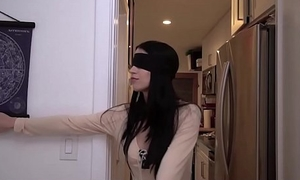 Young Teen Step Sister Fucked By Step Brother After Playing Birdbox Blindfold Challenge POV