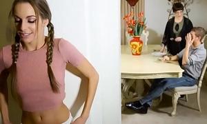 Boyhood Inevitably Beamy -  Gender hammer away Family Friend scene starring Kimmy Granger and Xander Corvus