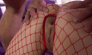 Teen Anal - Cute Russian gets all holes filled before taking a facial