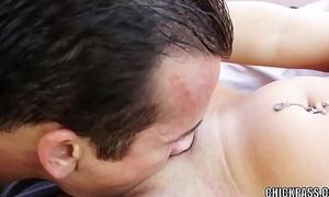 Latina hottie Kat Krown takes a stiff dick in her twat