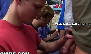 GAYWIRE - All Hell Brookes In The Dorm Room With Frat Hazing Ritual