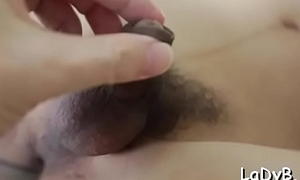 Petite thai tranny bitch gets her asshole really destroyed