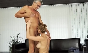 Old granny casting couch Sex with her boyboss&acute_s father after