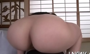 Nasty chick in underware with toy