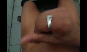 Indian boy masturbates in bathroom