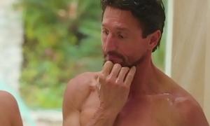 Stepdad getting nuru massage from his hot skinny daughter - family sex