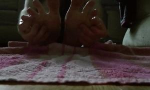 My 20 year old boy feet - oily massage