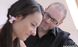 Innocent schoolgirl gets seduced and pounded by her elderly schoolteacher