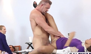 StepDads Fuck Sexy Daughters April And Serenity