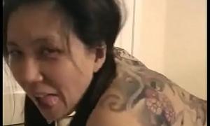 Japanese slut gets black cock in vegas cireman