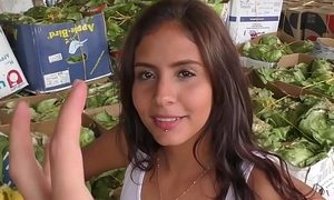 CARNE DEL MERCADO - Pickup fuck &amp_ facial with lusty Colombian babe Evelin Suarez