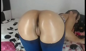 Latina tease her phat ass with sexy lingerie