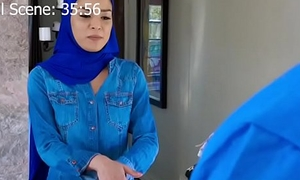 Muslim Teen takes on two cocks at once