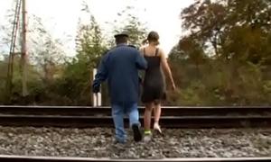 Charming girl gives sexy blowjob