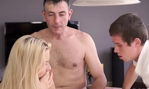 DADDY4K. Sleepy guy missed how his father fucks his gf