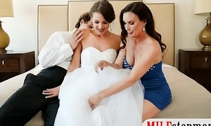 Bride to be threesome with big tits milf