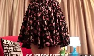 Erotic teenie opens up spread slit and loses virginity