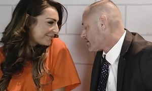 Latina busty prisoner shemale got a hard anal lesson