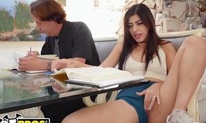 BANGBROS - Horny Teen Student Audrey Royal Seduces Teacher, Gets Fucked