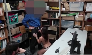 Brunette cop Suspect was viewed on camera stealing high priced
