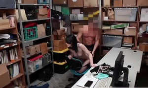 A cop gets strip xxx Suspect was caught red handed by store associate.