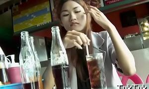 Talented thai slut blows a shlong